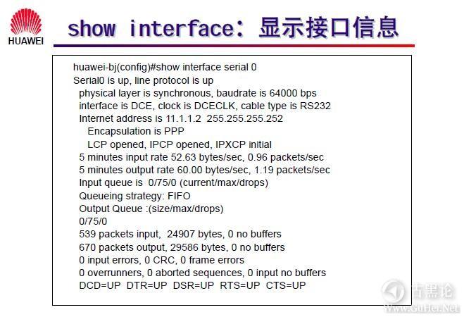 网络工程师之路_第六章 路由器配置简介 41-Show interface.jpg