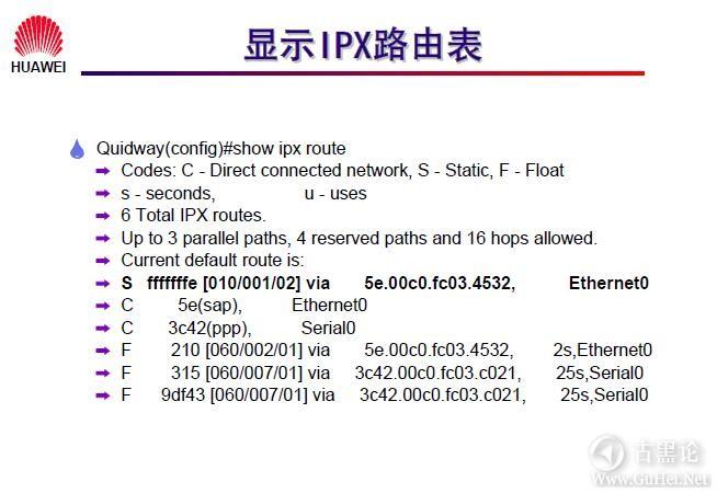 网络工程师之路_第八章|IPX协议及配置 16-显示IPX路由表.jpg