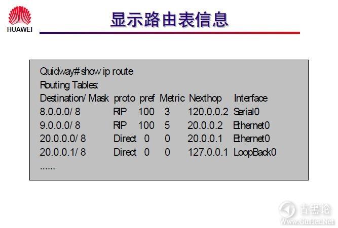 网络工程师之路_第十章|路由协议 30-显示路由表信息.jpg