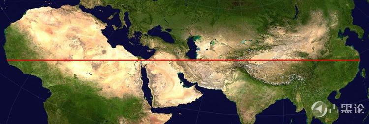 地球上最长的不经过海洋的直线 straight-line-projected.jpg