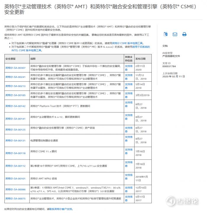 英特尔CSME爆出严重安全漏洞,要快打修复补丁 1.png