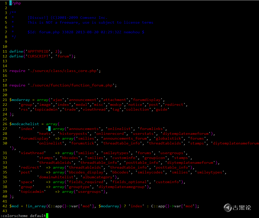 vim 主题配色有哪些? 1-default.png